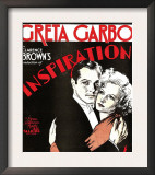 Inspiration, Robert Montgomery, Greta Garbo on Window Card, 1931 Posters