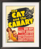 The Cat and the Canary, Paulette Goddard, Bob Hope on Window Card, 1939 Print