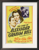 The Story of Alexander Graham Bell, Don Ameche, Loretta Young, 1939 Art