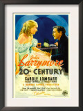 Twentieth Century (Aka 20th Century), Carole Lombard, John Barrymore on Midget Window Card, 1934 Prints