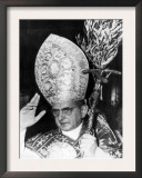 Pope Paul Vi, Blessing Crowd in St. Peter's Basilica on Palm Sunday, Vatican City, April 3rd, 1966 Poster
