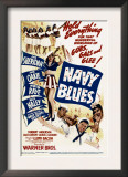 Navy Blues, Ann Sheridan, Jack Haley, Jack Oakie, Martha Raye on Midget Window Card, 1941 Posters