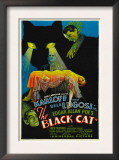 The Black Cat, Boris Karloff, Harry Cording, Jacqueline Wells, Bela Lugosi, 1934 Poster