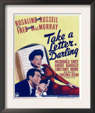 Take a Letter, Darling, Fred Macmurray, Rosalind Russell on Window Card, 1942 Print