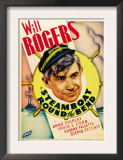 Steamboat Round the Bend, Will Rogers on Midget Window Card, 1935 Art
