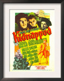 Kidnapped, Warner Baxter, Arleen Whelan, Freddie Bartholomew on Midget Window Card, 1938 Prints