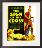Sign of the Cross, Elissa Landi, Fredric March on Window Card, 1932 Poster