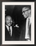 Martin Luther King Jr., and Malcolm X, 1964 Posters