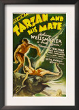 Tarzan and His Mate, Johnny Weissmuller, Maureen O'sullivan, 1934 Prints