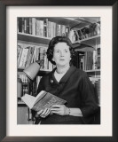Rachel Carson, Biologist and Writer, Holding Her Ground Breaking Book, the Silent Spring, 1963 Posters