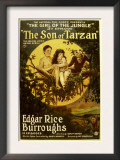 The Son of Tarzan, Gordon Griffith, Mae Giraci in &#39;Episode 3: the Girl of the Jungle&#39;, 1920 Art