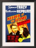 Keeper of the Flame, Spencer Tracy, Katharine Hepburn on Midget Window Card, 1942 Art