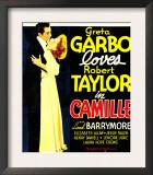 Camille, Robert Taylor, Greta Garbo on Window Card, 1936 Posters