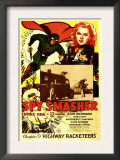 Spy Smasher, Kane Richmond, Marguerite Chapman in &#39;Chapter 9: Highway Racketeers&#39;, 1942 Prints