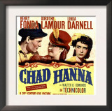 Chad Hanna, Henry Fonda, Dorothy Lamour, Linda Darnell on Window Card, 1940 Posters