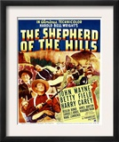 The Shepherd of the Hills, Harry Carey, Betty Field, John Wayne on Window Card, 1941 Poster