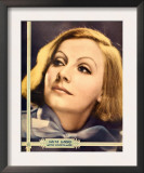 Greta Garbo on Mgm Jumbo Window Card, Portrait Poster, Ca. 1932 Prints