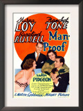 Man-Proof, Myrna Loy, Franchot Tone, Rosalind Russell, Walter Pidgeon on Midget Window Card, 1938 Poster