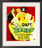 Bolero, George Raft, Carole Lombard on Window Card, 1934 Prints