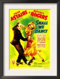 Shall We Dance, Fred Astaire, Ginger Rogers on Midget Window Card, 1937 Art