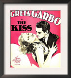 The Kiss, Greta Garbo, Lew Ayres on Window Card, 1929 Prints