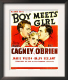 Boy Meets Girl, James Cagney, Marie Wilson, Pat O'Brien, 1938 Posters