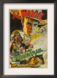 The Oregon Trail, (Poster Art), John Wayne, 1936 Print