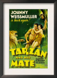 Tarzan and His Mate, Johnny Weissmuller, Maureen O&#39;sullivan, 1934 Posters