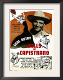 Bells of Capistrano, Gene Autry on Window Card, 1942 Art