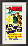 Man from Music Mountain, Gene Autry, Smiley Burnette, 1938 Posters
