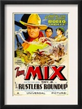 Rustlers&#39; Roundup, Tom Mix, Noah Beery Jr., Diane Sinclair, 1933 Art