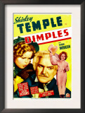 Dimples, Shirley Temple, Frank Morgan, Shirley Temple on Midget Window Card, 1936 Prints