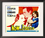 Now and Forever, Carole Lombard, Gary Cooper, Shirley Temple, 1934 Posters