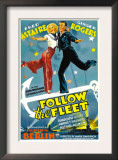 Follow the Fleet, Ginger Rogers, Fred Astaire, 1936, Poster Art Posters