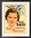 Hello, Everybody!, Kate Smith on Midget Window Card, 1933 Print