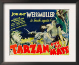 Tarzan and His Mate, Maureen O&#39;sullivan, Johnny Weissmuller, 1934 Print