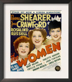 The Women, Joan Crawford, Norma Shearer, Rosalind Russell on Window Card, 1939 Print