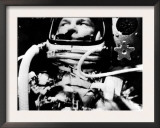 Astronaut John Glenn in His Space Capsule, February 20, 1962 Poster
