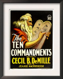 The Ten Commandments, Theodore Roberts, 1923 Print