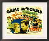 San Francisco, Jeanette Macdonald, Clark Gable, 1936 Art