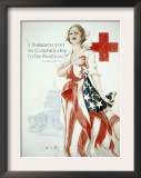 I Summon You to Comradeship in the Red Cross, Woodrow Wilson Prints by Harrison Fisher