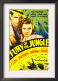 Fury of the Jungle, Donald Cook, Peggy Shannon on Midget Window Card, 1933 Posters