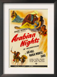 Arabian Nights, 1942, Poster Art Prints