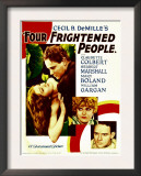 Four Frightened People, Claudette Colbert, Herbert Marshall, 1934 Posters