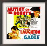 Mutiny on the Bounty, Charles Laughton, Movita, Clark Gable, 1935 Posters