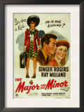 The Major and the Minor, Ray Milland, Ginger Rogers, 1942 Print