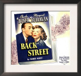 Back Street, Charles Boyer, Margaret Sullavan on Jumbo Window Card, 1941 Posters