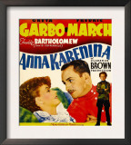 Anna Karenina, Greta Garbo, Fredric March, Freddie Bartholomew on Window Card, 1935 Poster