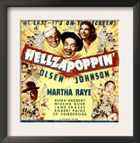 Hellzapoppin', Ole Olsen, Chic Johnson, Martha Raye, Hugh Herbert, Mischa Auer on Window Card, 1941 Prints