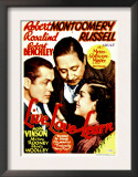 Live Love and Learn, Robert Montgomery, Robert Benchley, Rosalind Russell on Window Card, 1937 Prints